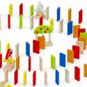 Viga Zestaw Drewniane Klocki Gra Domino Farma 116 Elementów