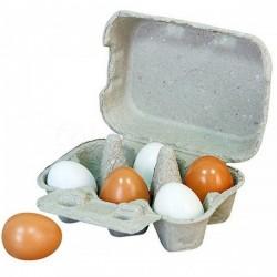 VIGA Jajka Drewniane W Wytłoczce
