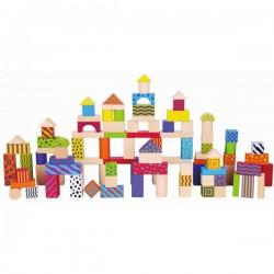 VIGA Klocki 100 elementów - colorful set