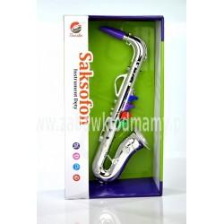 Bassko Saksofon jak prawdziwy gra instrument muzyczny