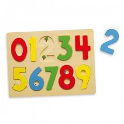 VIGA Układanka Drewniane Cyferki Puzzle 123