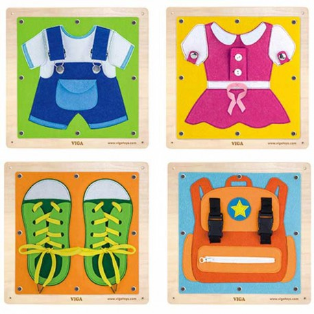 VIGA Tablice Sensoryczne Ubrania EDU