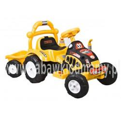 Traktorek na akumulator żółty
