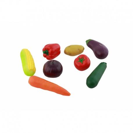 Zestaw 8 Warzyw Drewnianych Do Kuchni Dla Dzieci Masterkidz