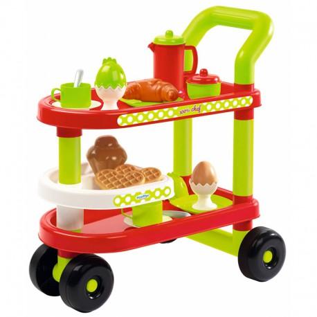 Ecoiffier - Serwis śniadaniowy - wózek z akcesoriami