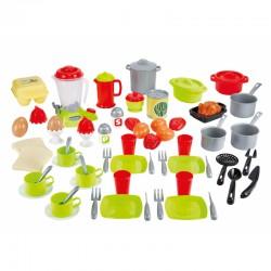 Smoby Ecoiffier Zestaw Obiadowy 70 akcesoriów