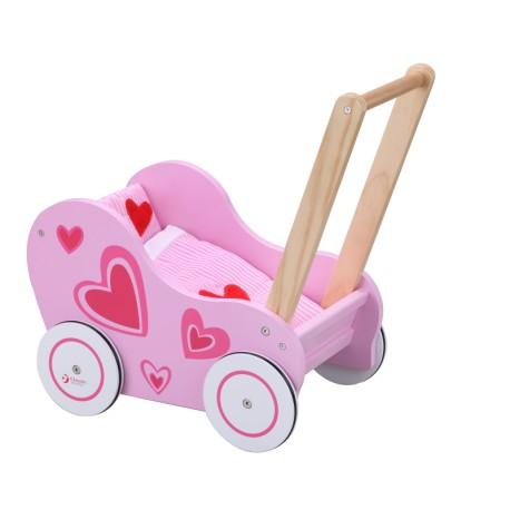 Wózek Drewwniany Chodzik dla Lalki Classic World