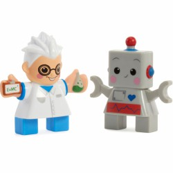 Little Tikes 2 Figurki Naukowiec i Robot Klocki Wafle