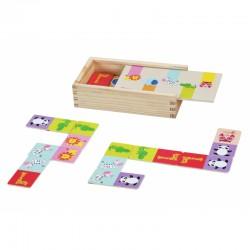 Drewniana układanka Gra Domino ze zwierzątkami Classic World