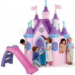 Feber Ogromny Pałac Księżniczki Super Palace Domek Ogrodowy + Zjeżdżalnia First Slide Little Tikes