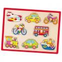 Drewniane Puzzle Układanka Pojazdy Viga Toys