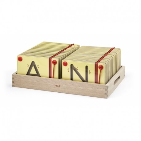 Tabliczki Magnetyczne Nauka Pisania Wielkie Litery Viga Toys