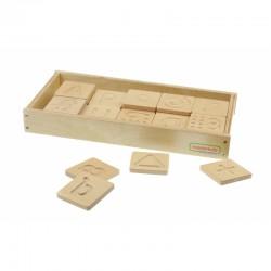 Zabawka Sensoryczna Rozpoznaj Dotykiem Literki Cyfry Kształty Masterkidz