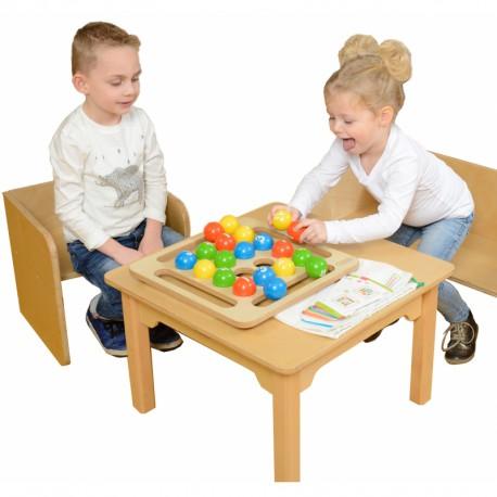 Drewniana Gra Dla Dzieci Kolorowe Kulki Masterkidz