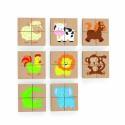 Drewniane Puzzle Magnetyczne Zwierzęta Układanka Viga Toys