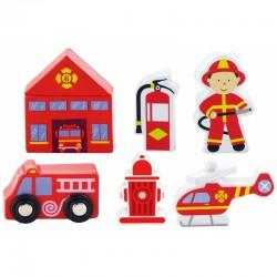 Viga Zestaw figurek - Straż Pożarna - Akcesoria do kolejki