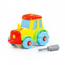Kolorowy traktor ze śrubokretem Wader