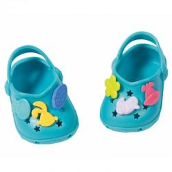 Buciki z przypinkami dla lalki Baby Born 43 cm w kolorze błękitnym