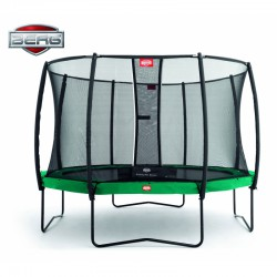 BERG Trampolina Champion Green 430 cm siatka Deluxe Twinspring Gold