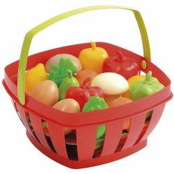 Smoby Ecoiffier Czerwony Koszyczek Z Owocami i Warzywami