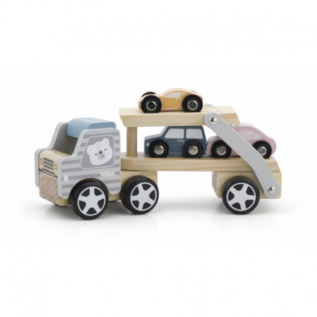 Drewniana laweta z samochodzikami Viga Toys PolarB