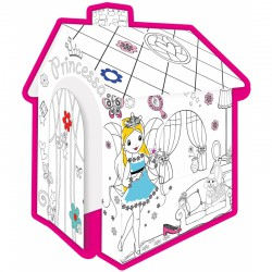 Mochtoys Duży Domek Do Kolorowania Dla Dzieci Księżniczka
