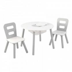 Biało szary Drewniany stolik i 2 krzesełka KidKraft