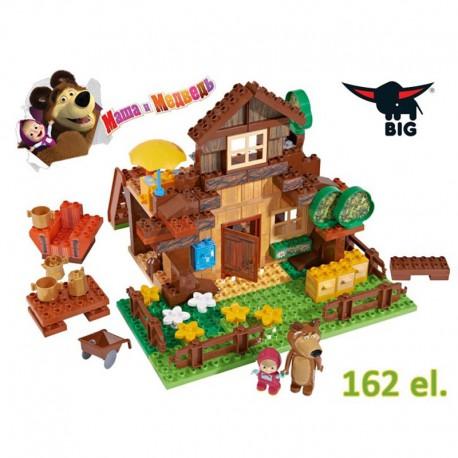 Big Klocki Bloxx Masza i Niedźwiedź Wielki Dom Miszy 162 elem.