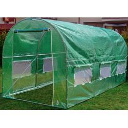 Tunel foliowy zielony z oknami- 10m2