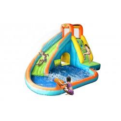 Centrum Zabawy Dmuchaniec Zamek Dmuchany zjeżdżalnia wodna z basenem i armatką