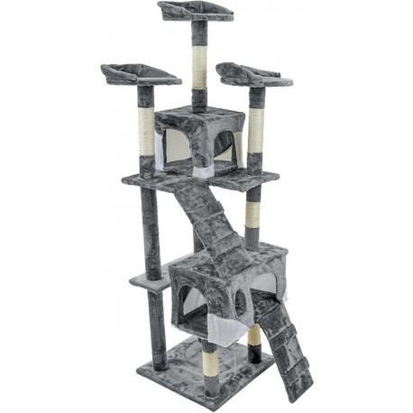Duży Drapak dla kota 5 poziomów Szary