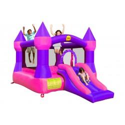 Dmuchany zamek ze zjeżdżalnią Happy Hop - różowy