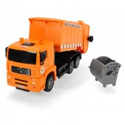 DICKIE Pojazdy Heavy City Ciężarówka Śmieciarka Man