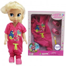 WOOPIE Ubranko Piżamka HAPPY Różowa dla Lalki 43-46 cm