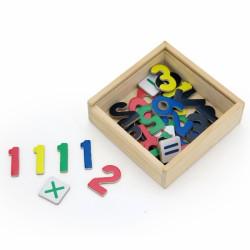 VIGA Drewniane Magnetyczne cyferki Magnes Uczymy się Liczyć Matematyki