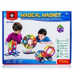 Kolorowe klocki magnetyczne MAGICAL MAGNET 52 SZT