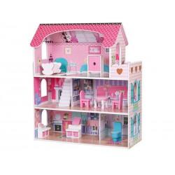 Domek dla lalek DUŻY Drewniany XL + akcesoria