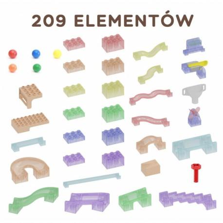MASTERKIDZ Zestaw Konstrukcyjny Tor dla Piłek Tablica STEM 209elementów