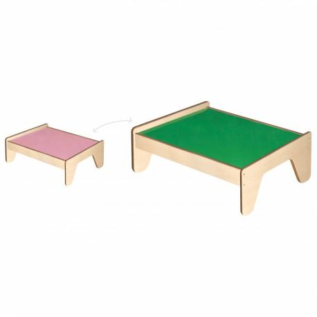 VIGA Drewniany Stół dla Dzieci na Kolejkę i Klocki
