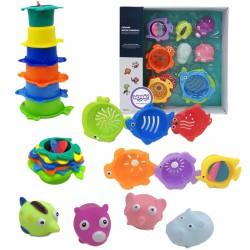 WOOPIE Zabawki do Kąpieli Zestaw Rybek Kubeczki Przelewowe Psikawki