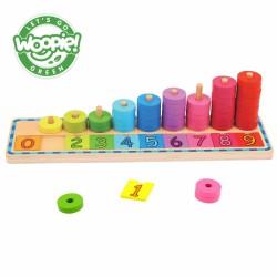 WOOPIE GREEN Układanka Nauka Liczenia i Kolorów Montessori