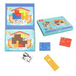 TOOKY TOY Układanka Logiczna Puzzle Tetris Arka Noego 26 el.