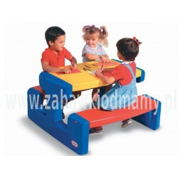 LT Stolik Piknikowy Duży Stół Niebieski