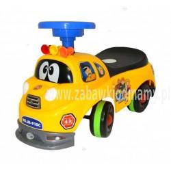 Pojazd, odpychacz, zabawka - Wóz strażacki - Żółty